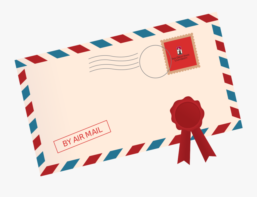 Aztec Game Lab Lets - Air Mail Envelope Clipart, Transparent Clipart