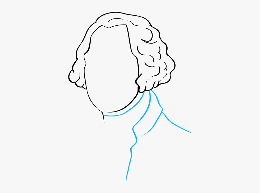 How To Draw George Washington - Sketch, Transparent Clipart