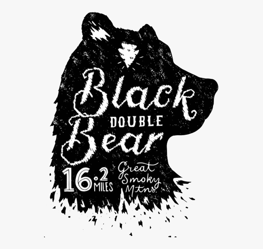 Black Bear Double Logo - Poster, Transparent Clipart