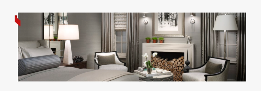 Clip Art Modern Master Bedroom - Bedroom Luxury Gray Color, Transparent Clipart