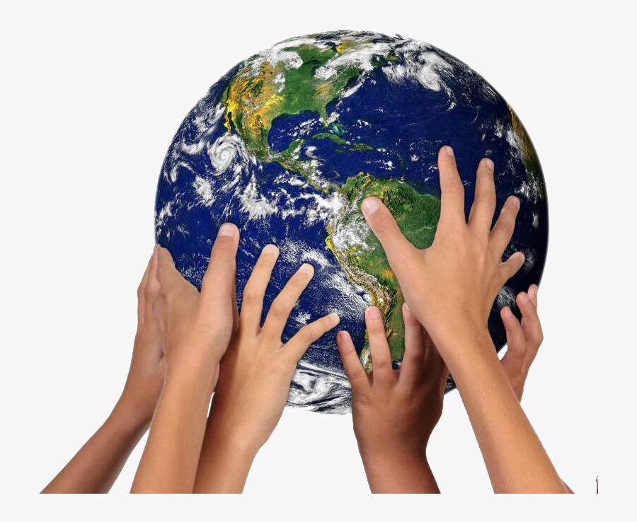 Transparent Hands Together Png - Hands Together Holding World, Transparent Clipart