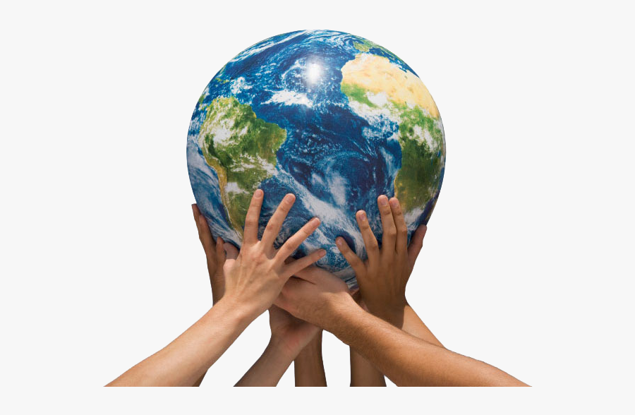 Hands Holding The World Png - Hand Holding Earth Png, Transparent Clipart