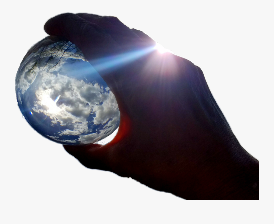 My Hand Holding The World - Earth, Transparent Clipart