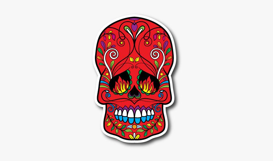 Flames On A Sugar Skull, Transparent Clipart