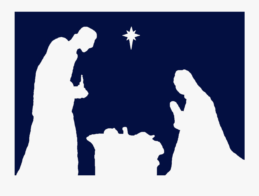 Transparent Nativity Silhouette Png - Printable Silhouette Printable Manger Scene, Transparent Clipart