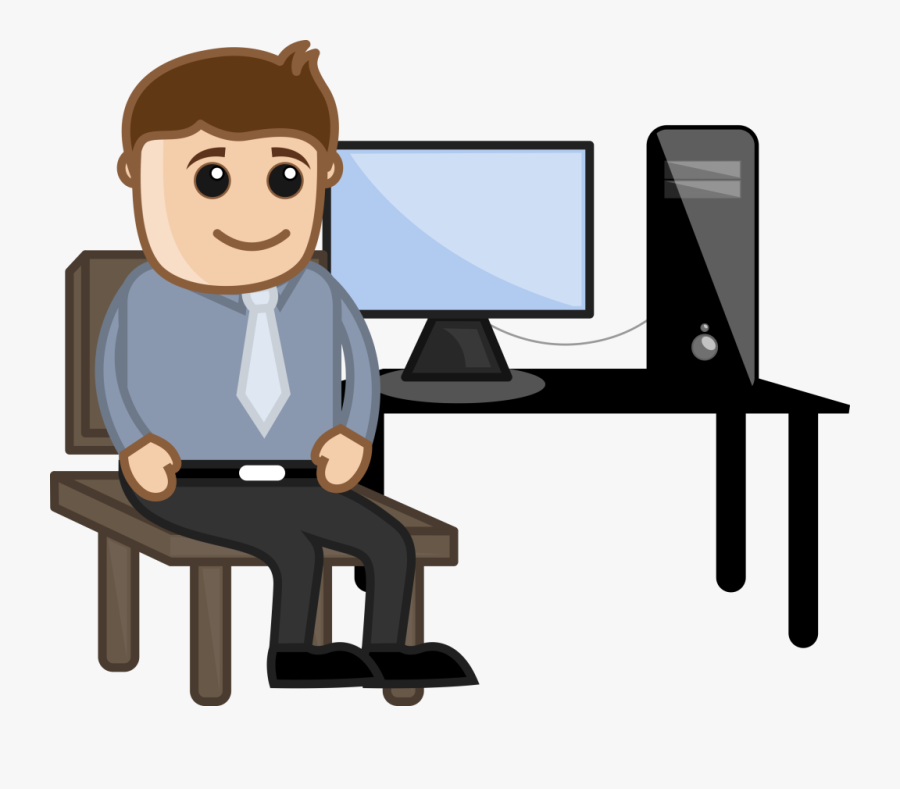 Person Sitting In Chair Clip Art, Transparent Clipart