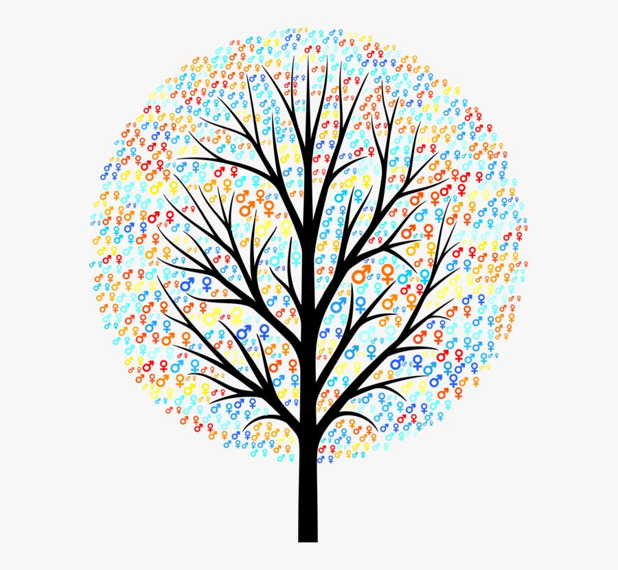 Plant,leaf,symmetry - Transparent Background Bare Tree Clipart, Transparent Clipart
