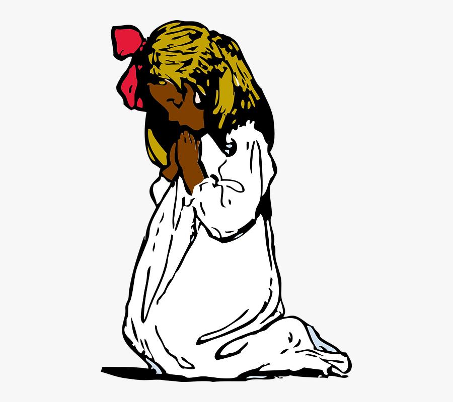 Girl Praying Clip Art, Transparent Clipart