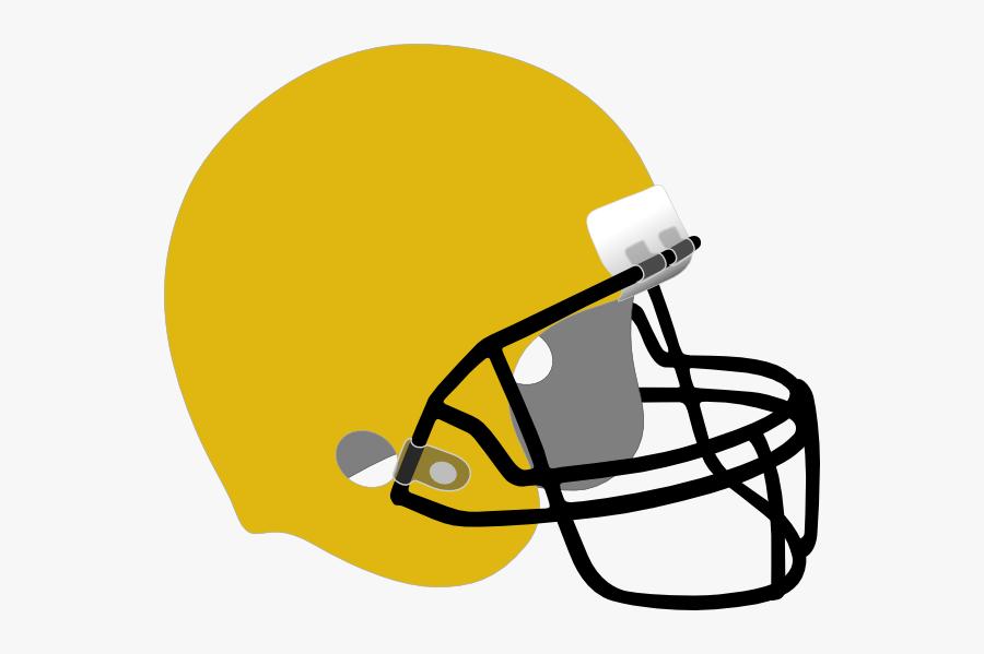 White Blue Football Helmet, Transparent Clipart