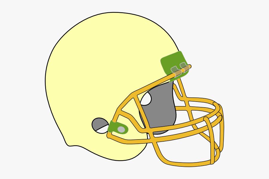 Large Football Helmet - American Football, Transparent Clipart
