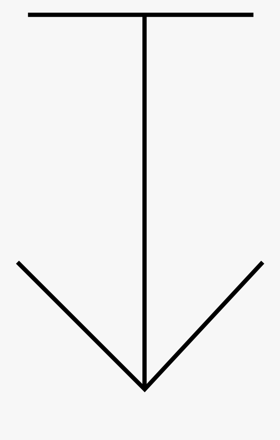 Engineering Drawing Symbol For Depth, Transparent Clipart