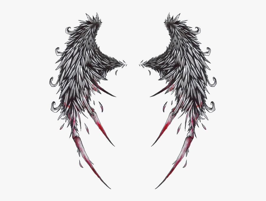 Tattoo Devil Demon Angel Png Free Photo Clipart - Angel Wings Tattoo, Transparent Clipart