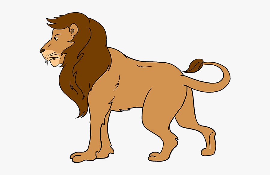 Clip Art Collection Of Free Cartoon - Easy Carnivores Animal Drawing, Transparent Clipart