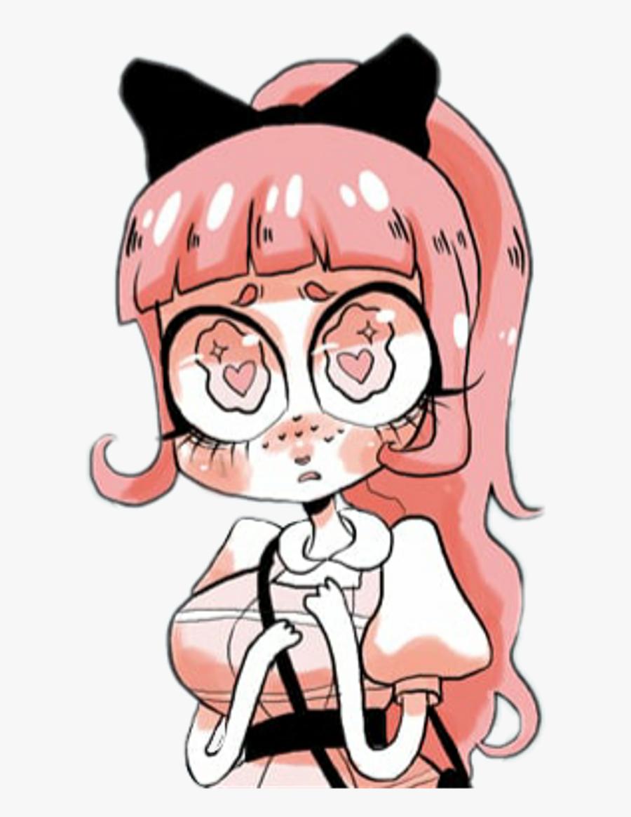 Kawaii Pastel Anime Pink Cute Animegirl Manga Sticker - Unfamiliar Comic Sun Lavendertowne, Transparent Clipart