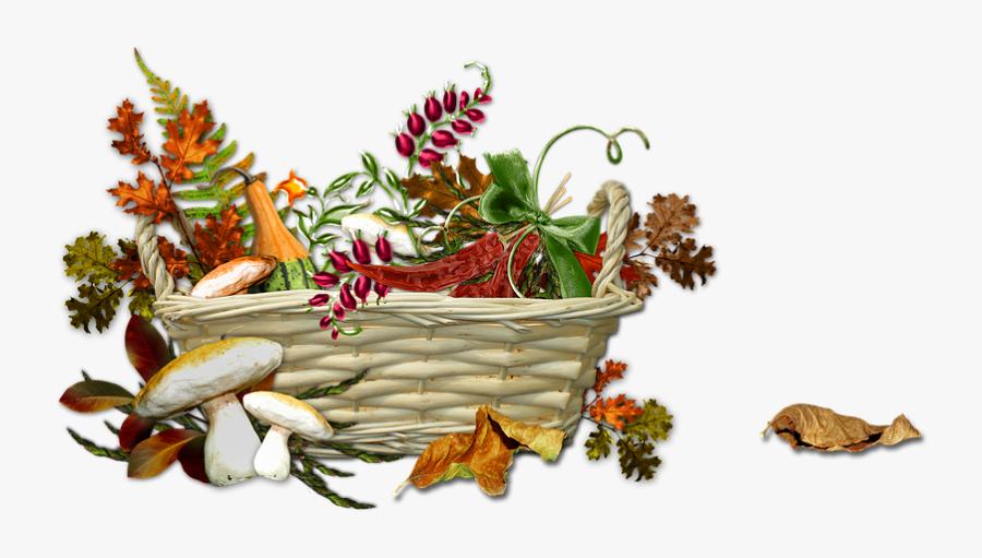 Autumn Harvest Season - Autumn Basket Png, Transparent Clipart