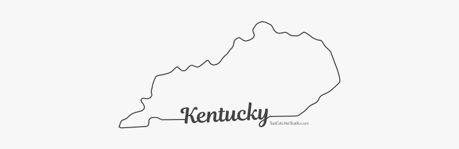 Free Kentucky Outline With State Name On Border, Cricut - Kentucky Outline, Transparent Clipart