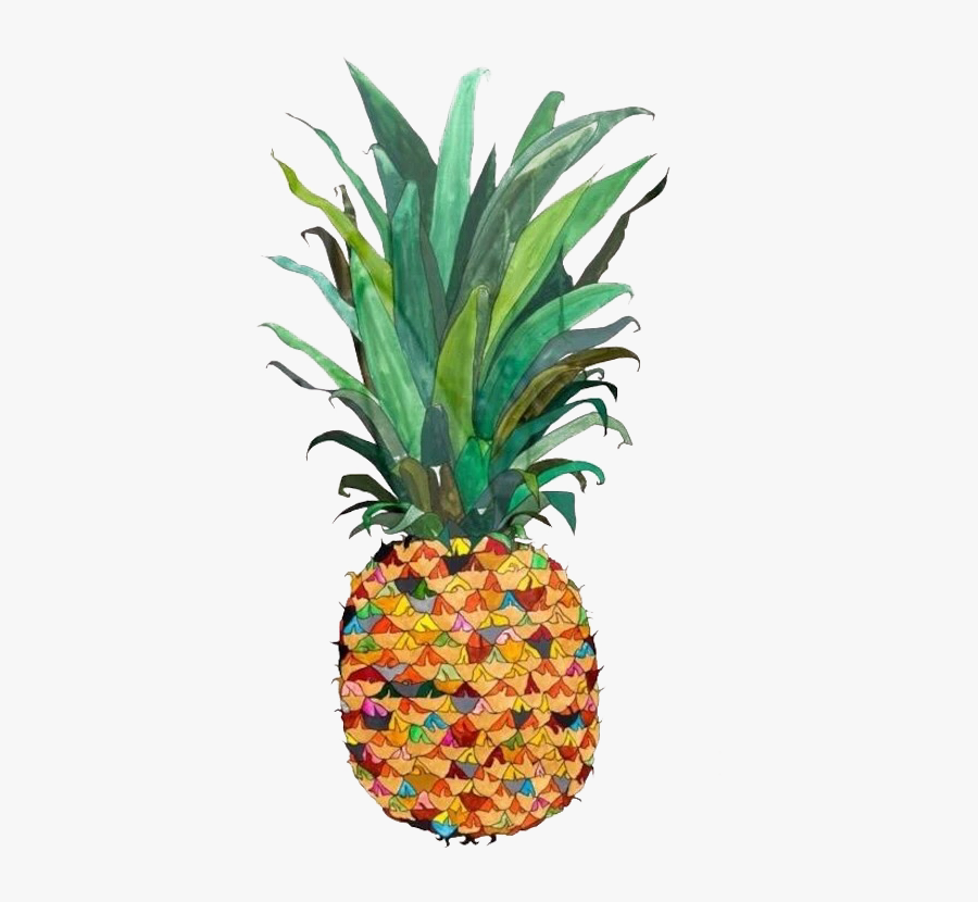 700 X 847 - Pineapple Painting Png, Transparent Clipart