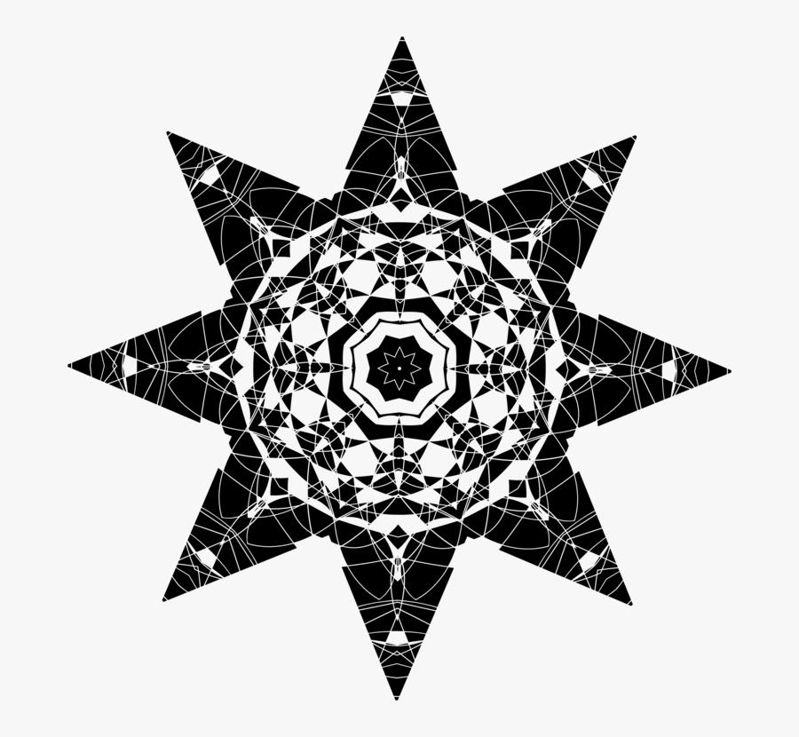 Triangle,visual Arts,star - Farfalla 3d Uncinetto Schema, Transparent Clipart