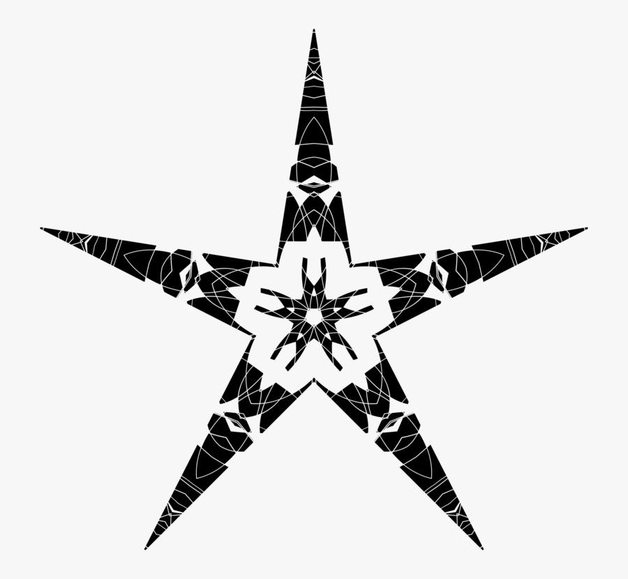 Star,symmetry,monochrome Photography - Portable Network Graphics, Transparent Clipart