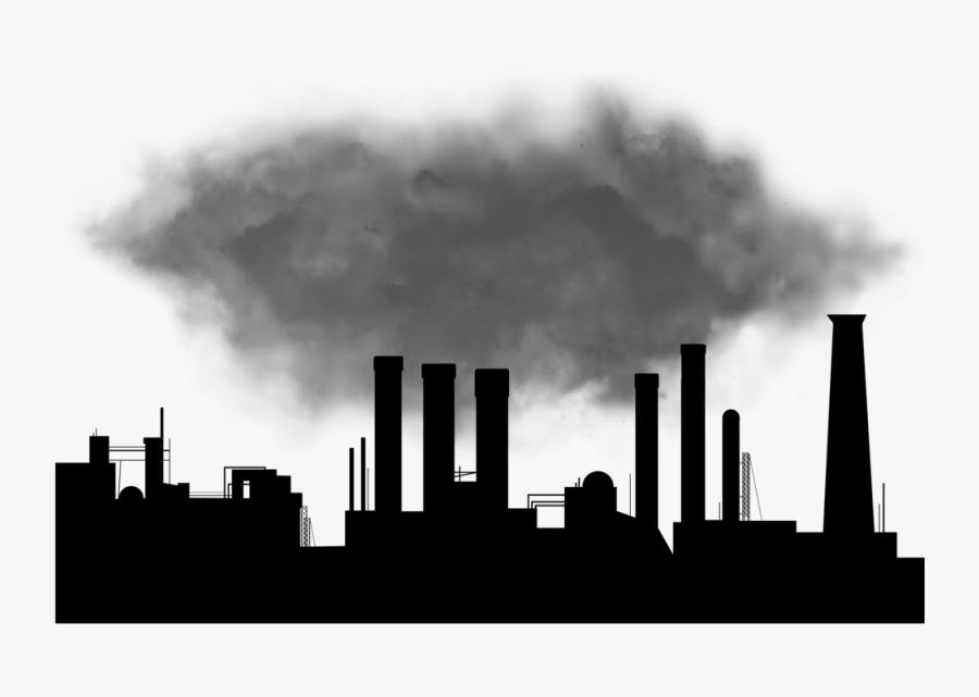 Coal Plant-01 - Power Plant Silhouette Png, Transparent Clipart