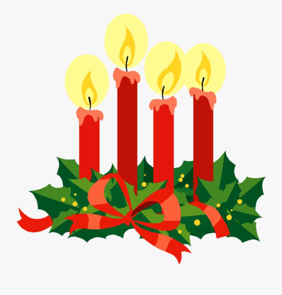 Clip Art Advent Candles, Transparent Clipart
