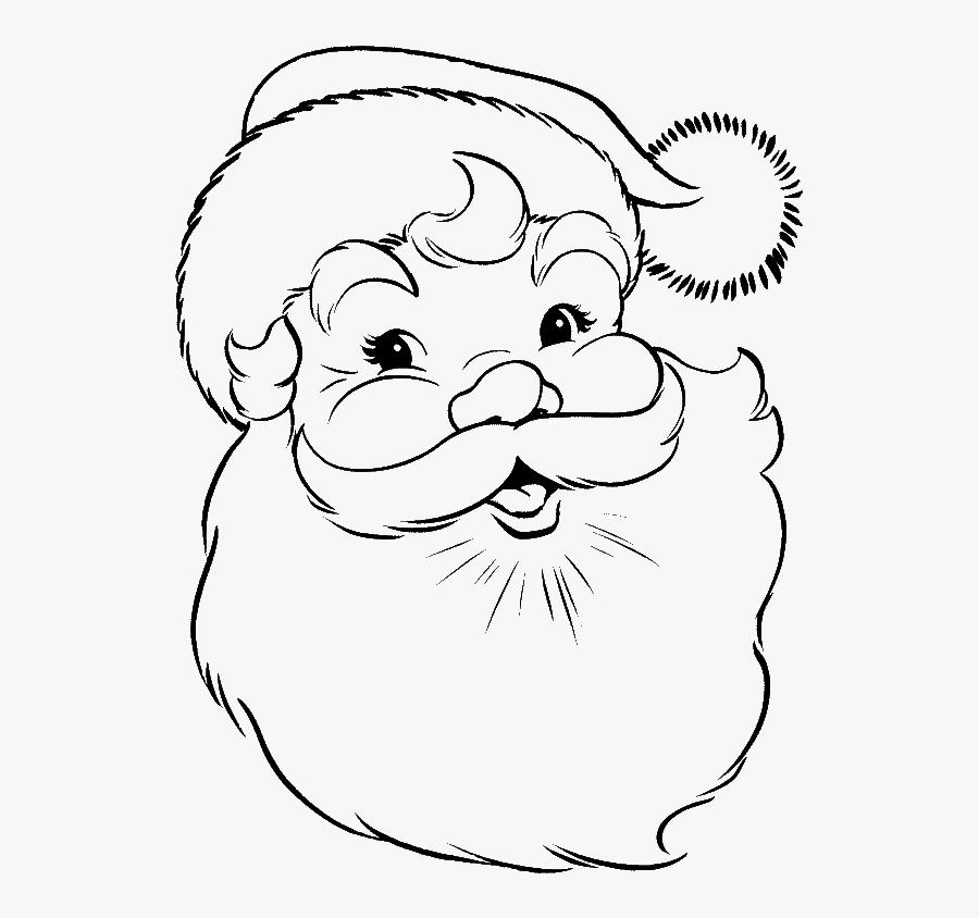 Drawing Of Santa Claus Face, Transparent Clipart