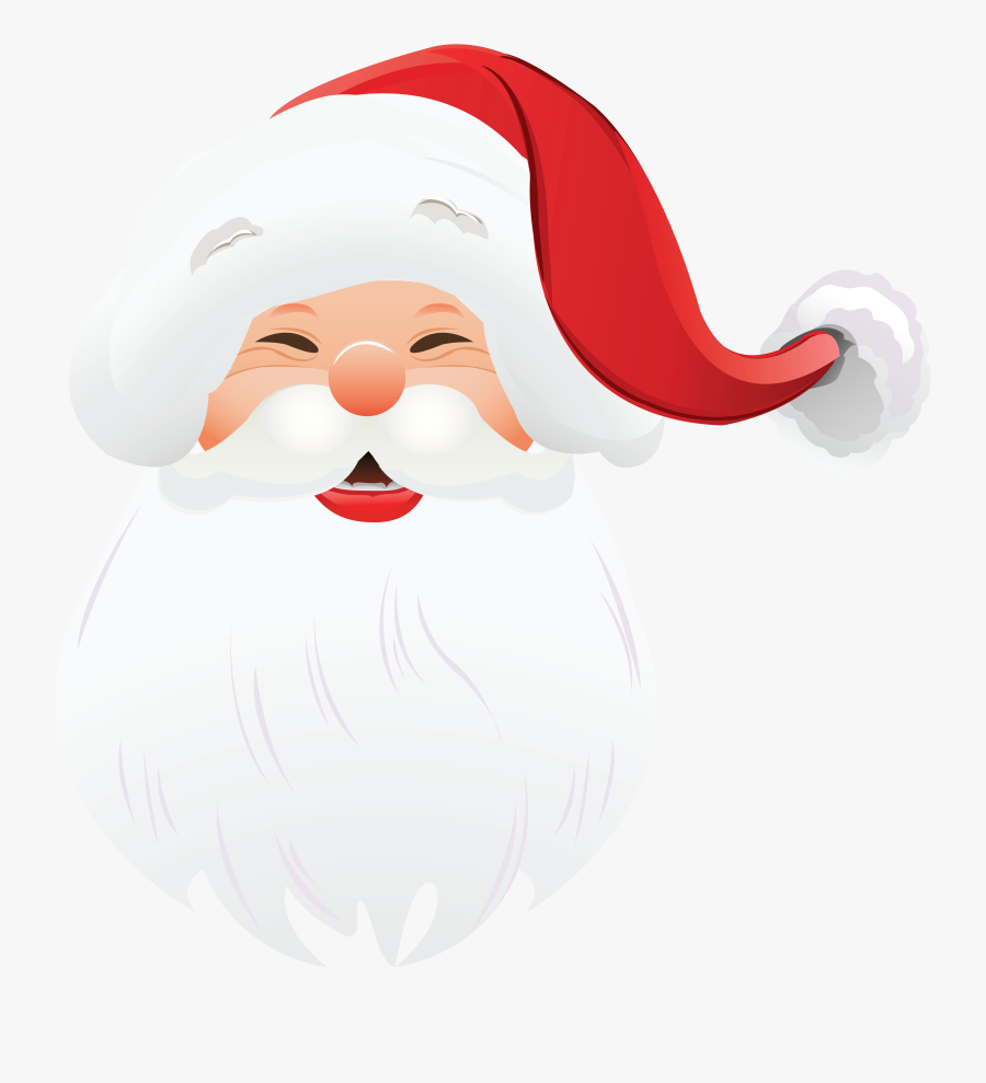 Transparent Santa Claus Face Clipart - Santa Claus Face Png, Transparent Clipart