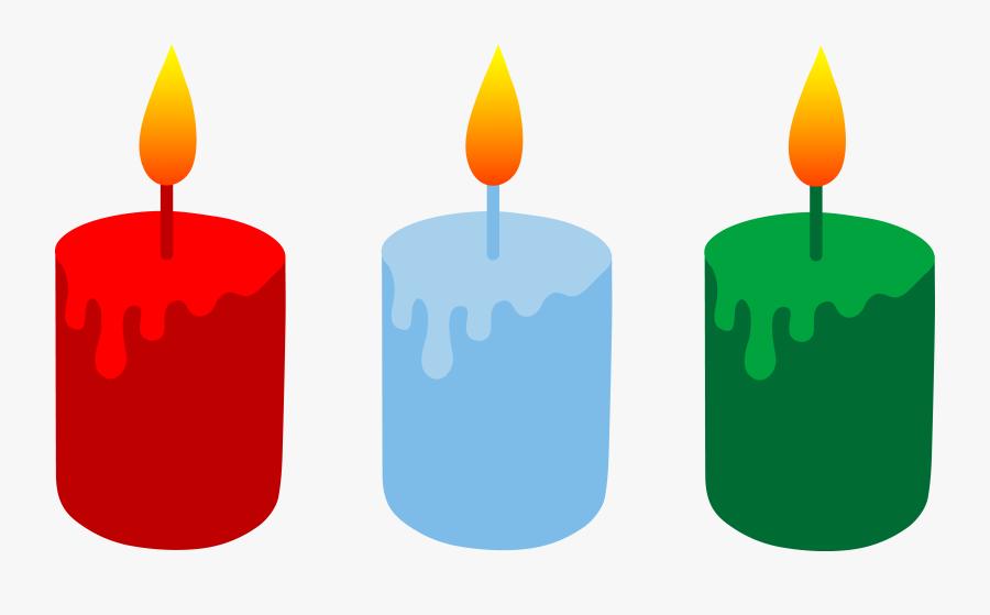 Clip Art Christmas Candles, Transparent Clipart