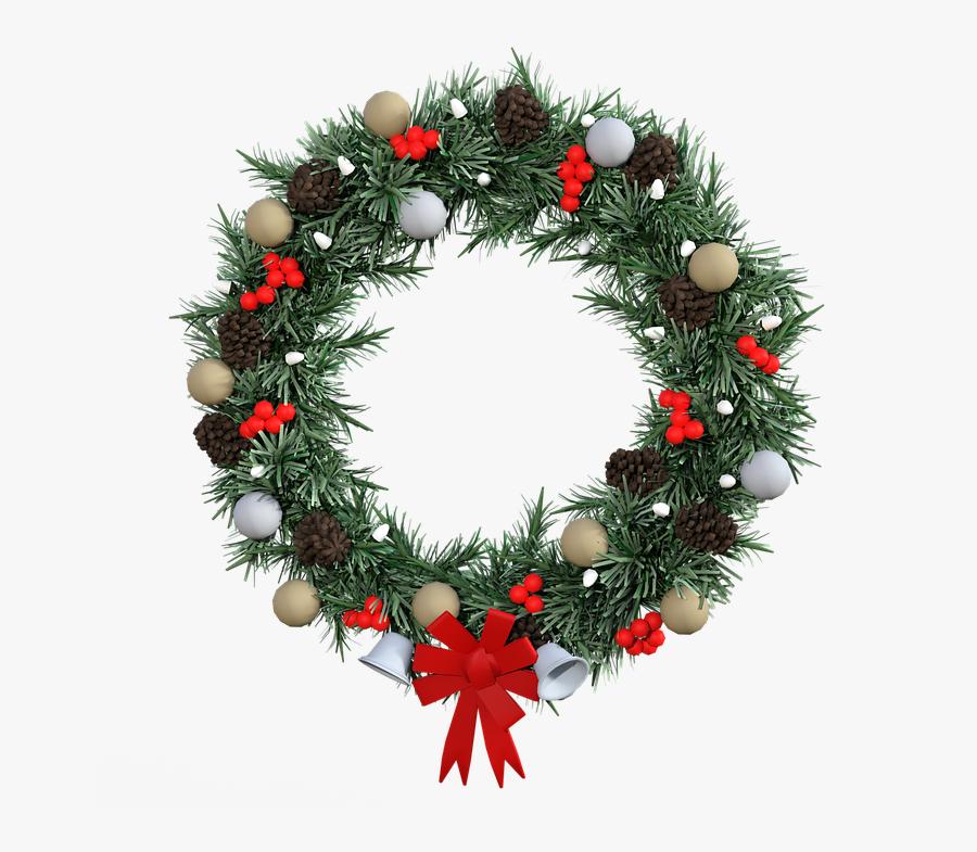 Christmas Wreath Transparent Background, Transparent Clipart