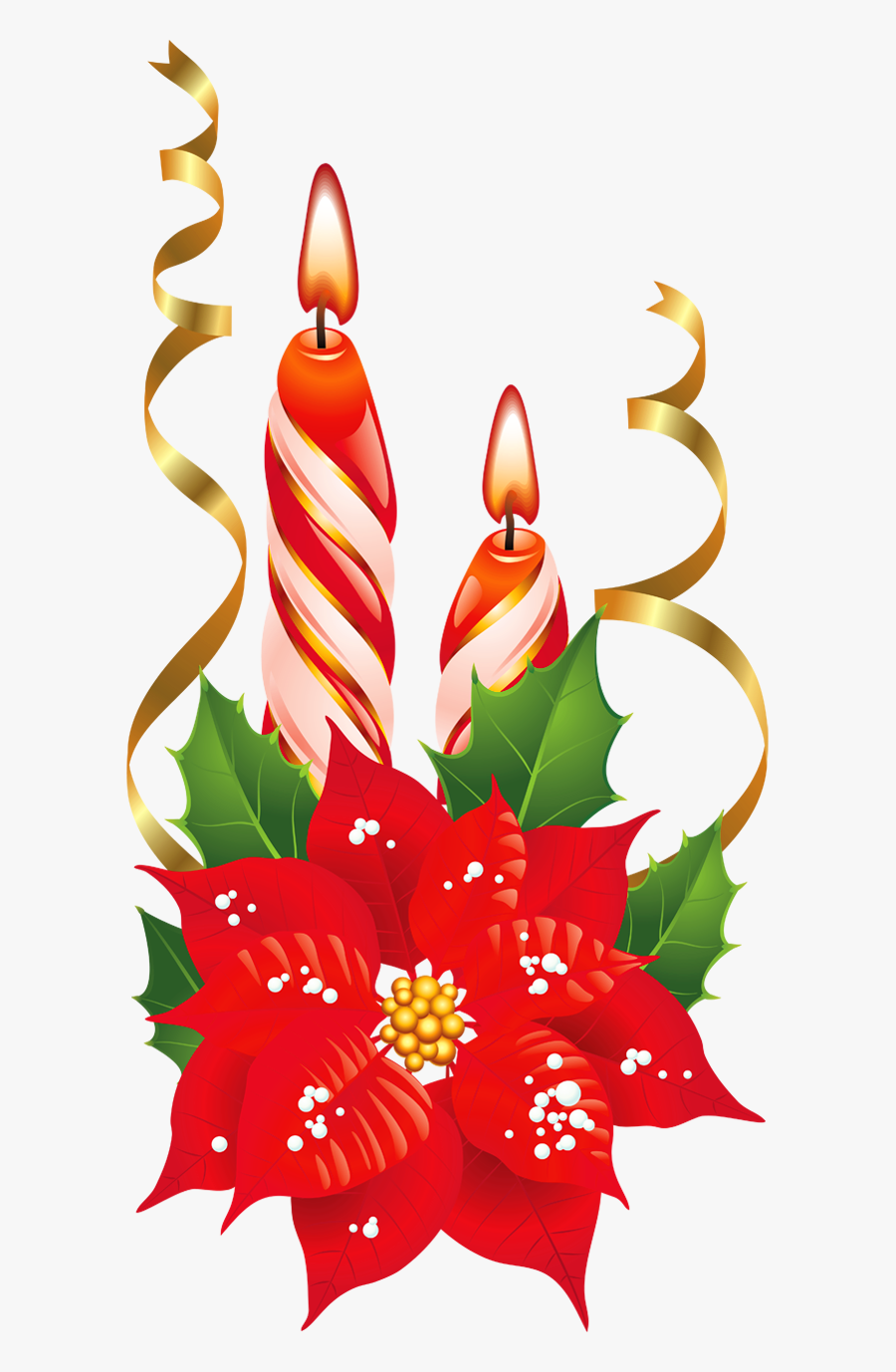 Christmas Candles Clipart, Transparent Clipart