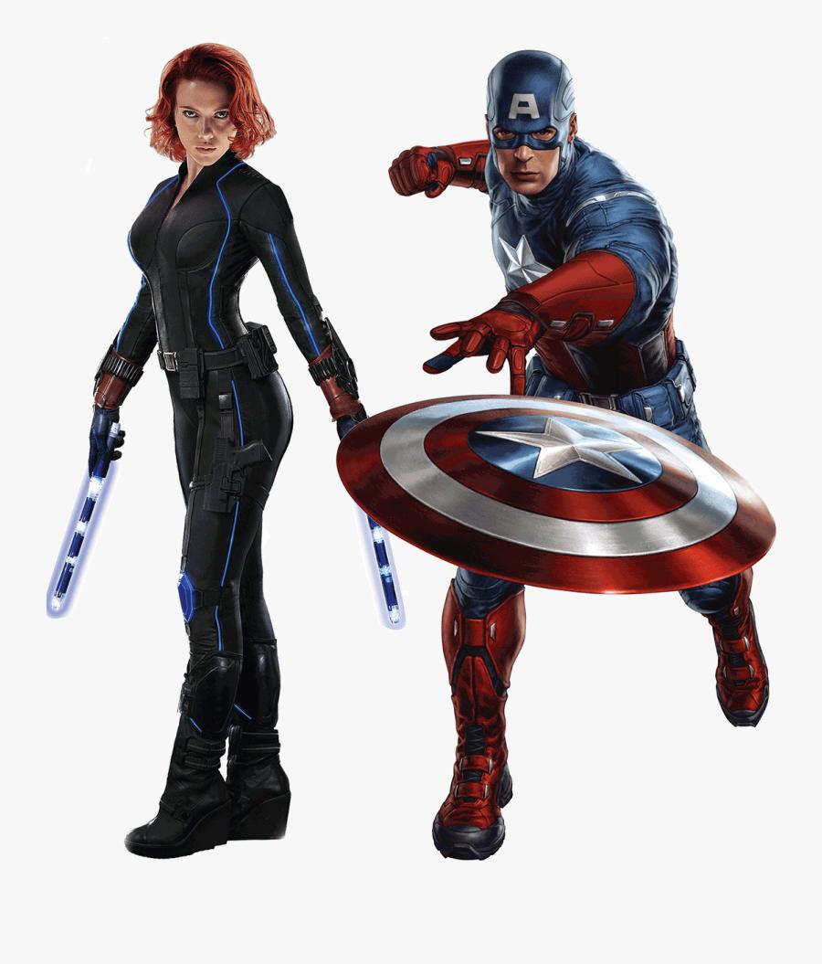 Black Widow Captain America - Avengers Captain America, Transparent Clipart