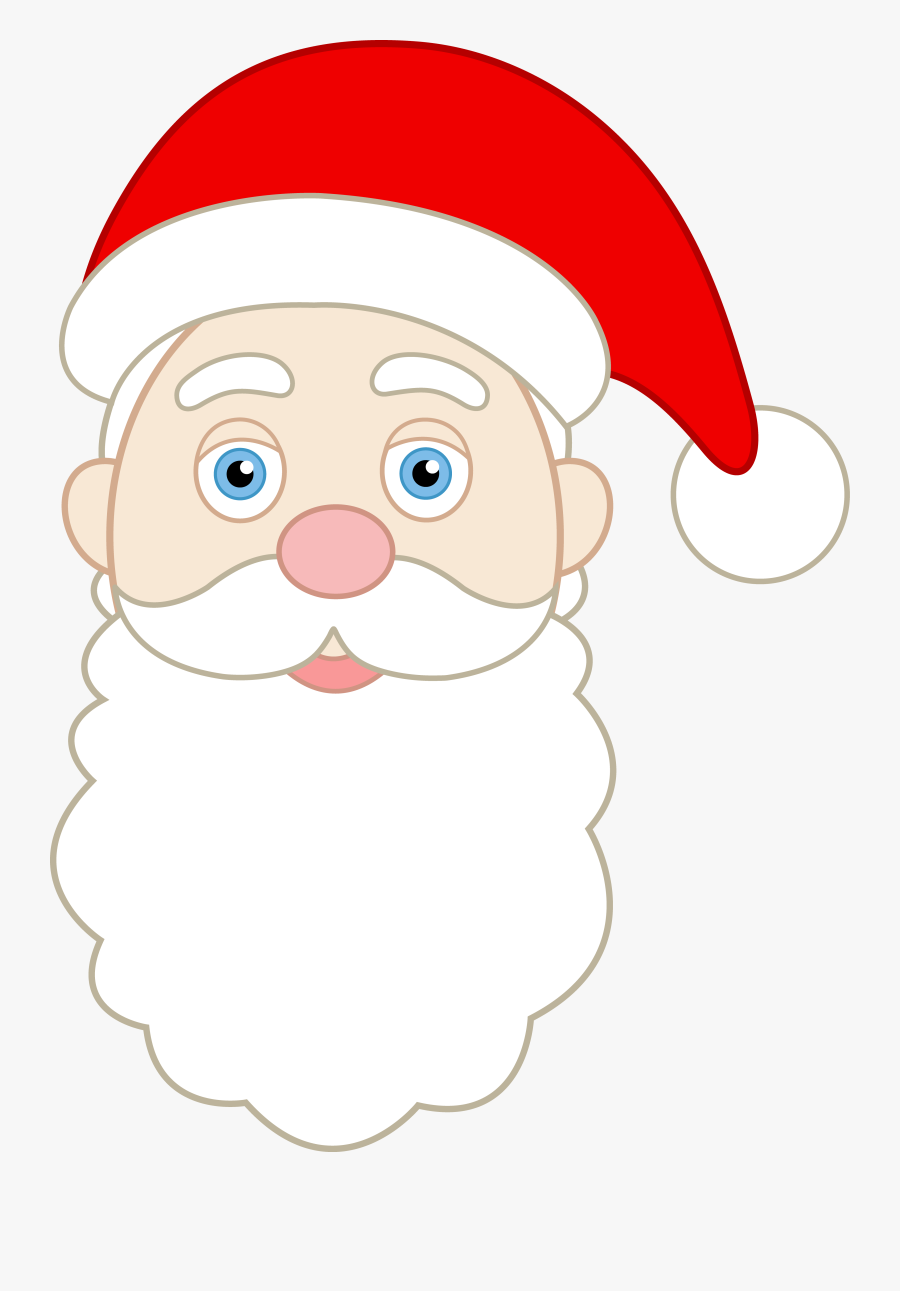 Face Of Santa Claus - Simple Santa Claus Mask, Transparent Clipart