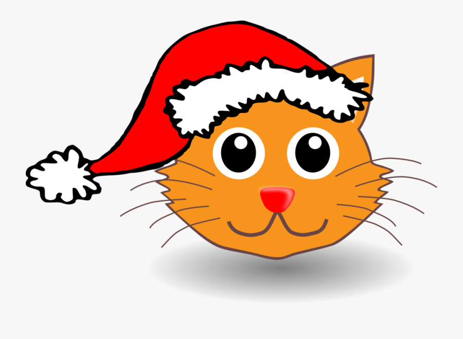 Funny Kitty Face With Santa Claus Hat Graphic Royalty - Cat With Santa Hat Clipart, Transparent Clipart