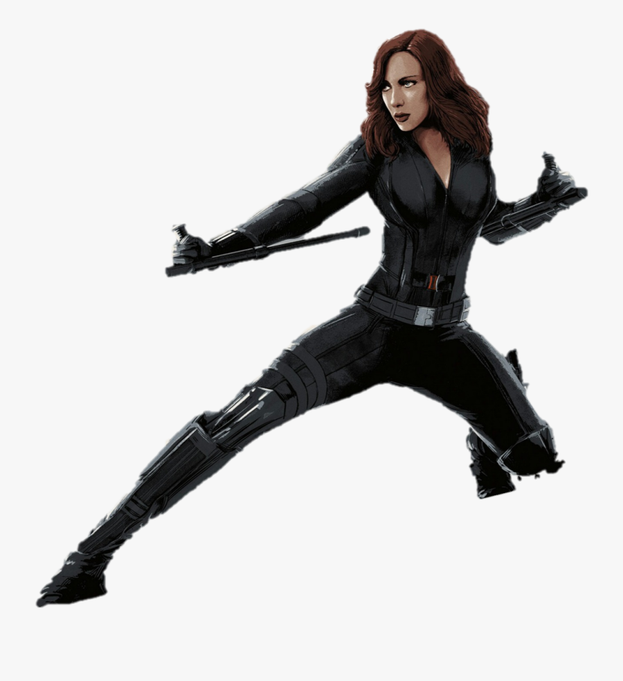Captain America Black Widow Clint Barton Marvel Heroes - Marvel Black Widow Png, Transparent Clipart