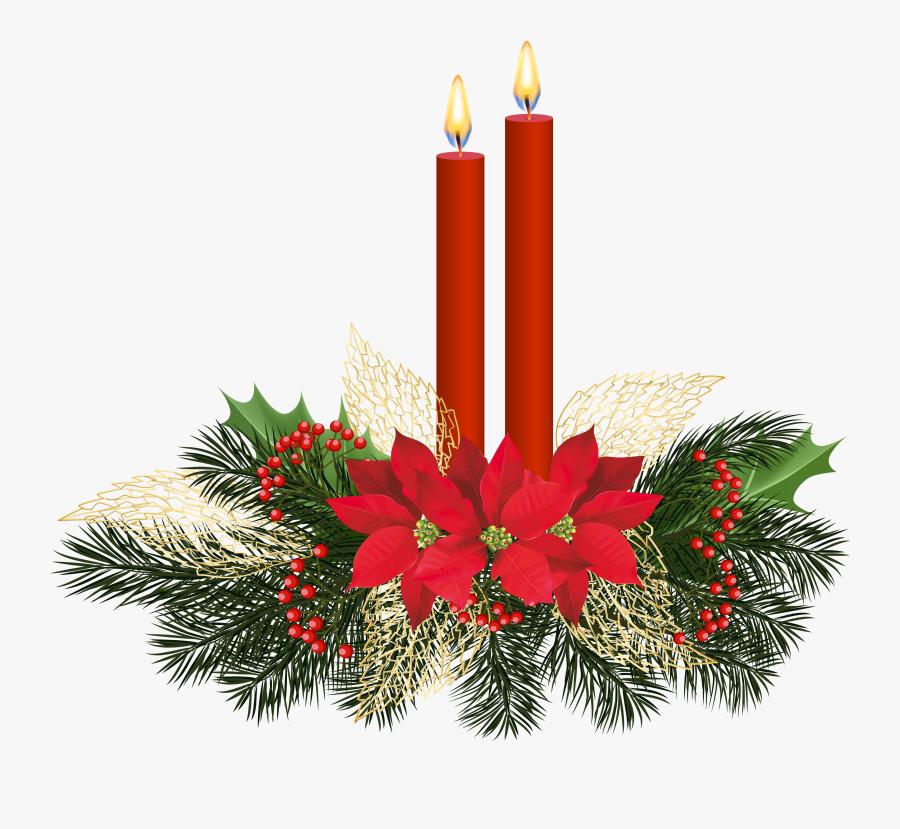 Transparent Christmas Candles Clipart, Transparent Clipart