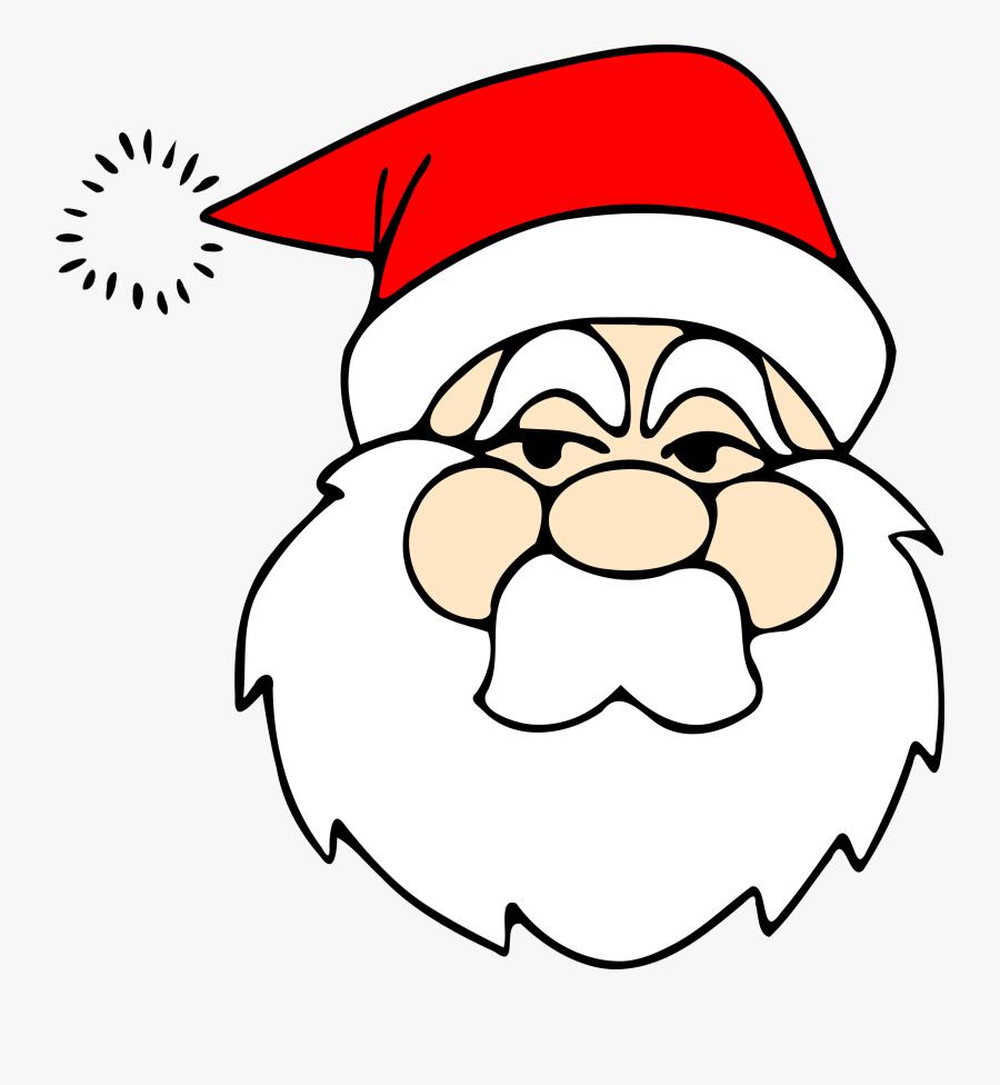 Head Clipart Santa Claus - Santa Head Transparent Background, Transparent Clipart