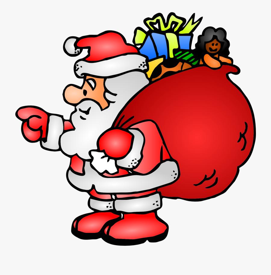 Santa Claus Bag Xmas - Father Christmas Clip Art, Transparent Clipart