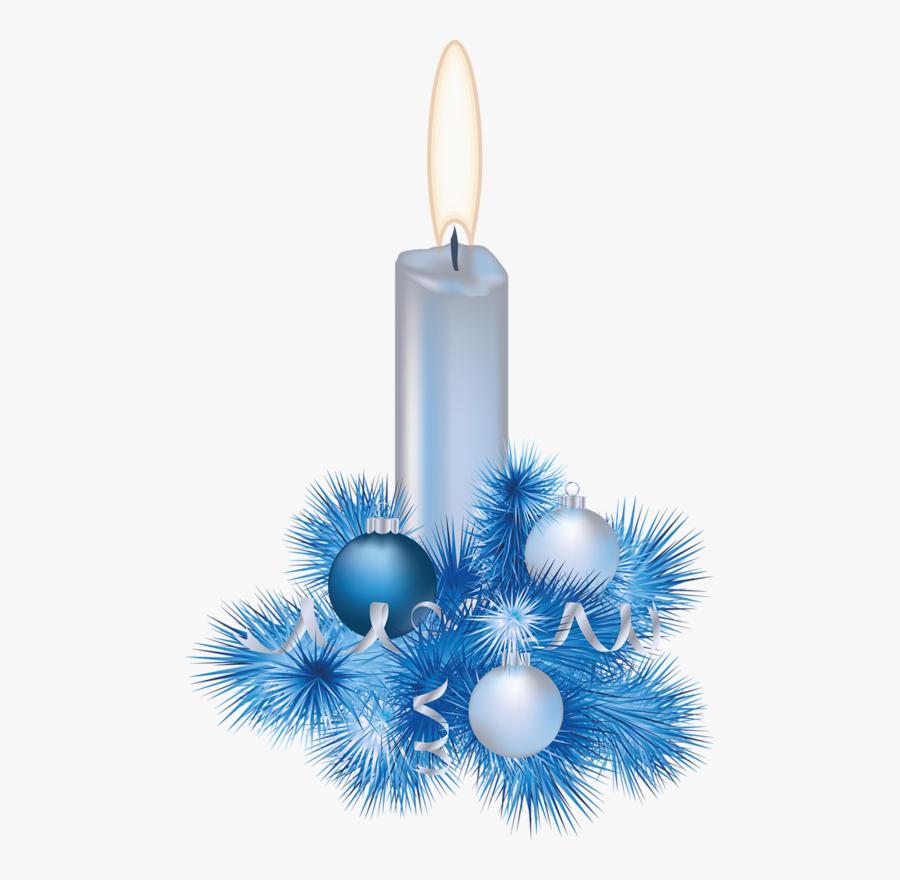 Christmas Blue Candle * - Christmas Candles Png Transparent, Transparent Clipart