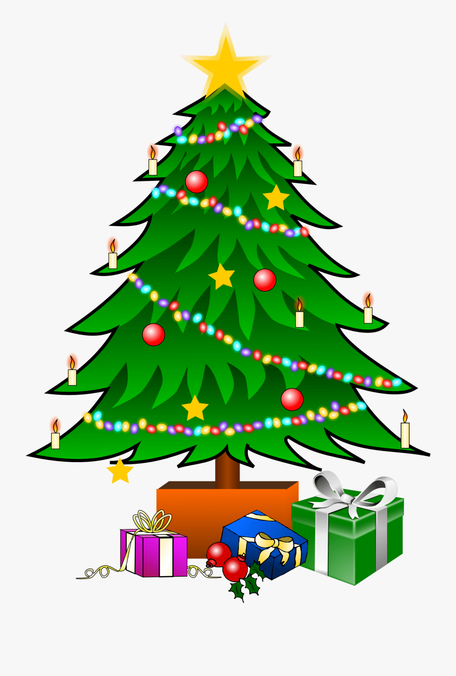 This Nice Christmas Tree With Presents Clip Art Can - X Mas Tree Clipart, Transparent Clipart