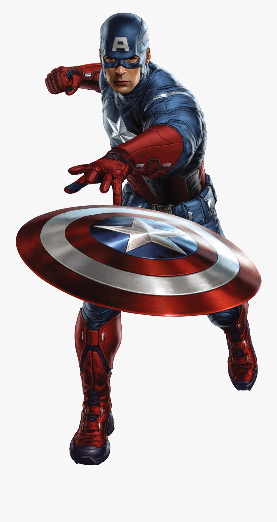 Man America Black Iron The Captain Avengers Clipart - Capitan America En Png, Transparent Clipart