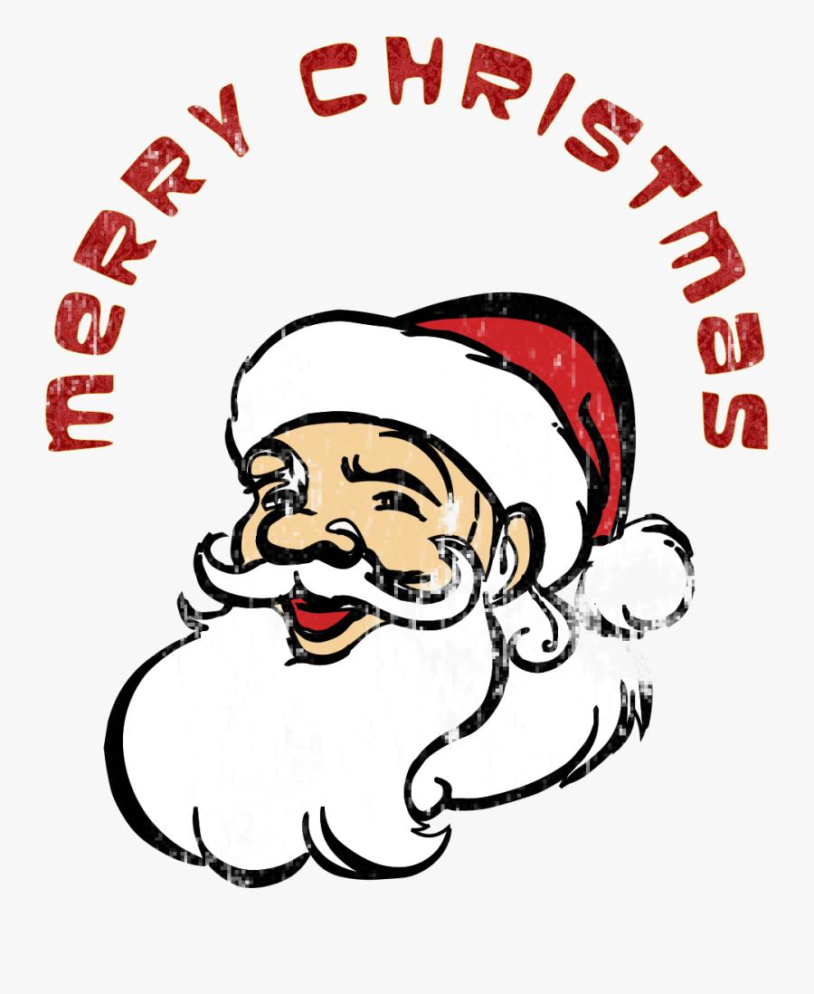 Transparent Santa Head Png - Merry Christmas Santa Clauses, Transparent Clipart