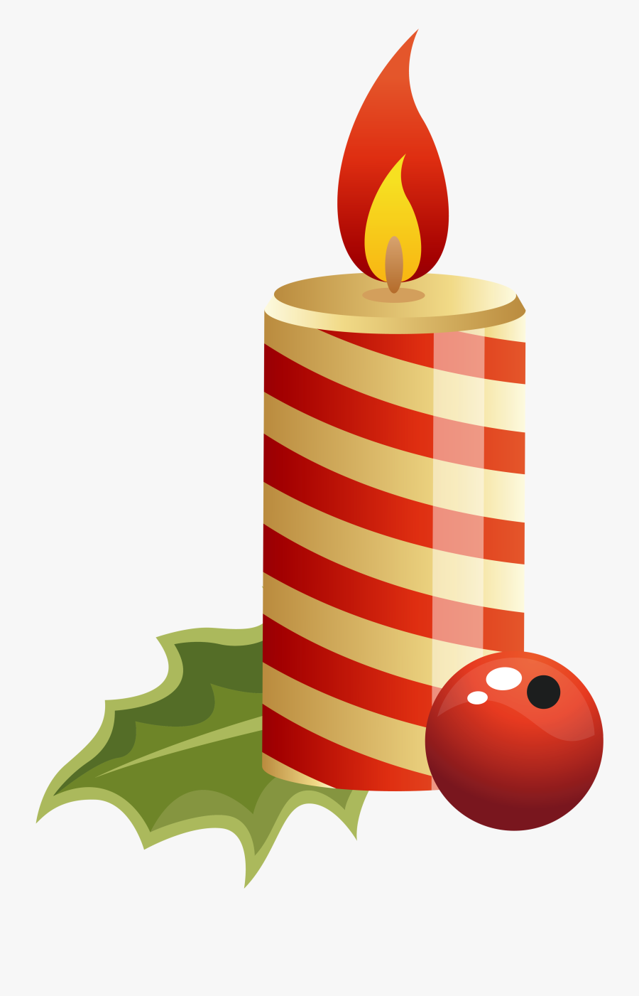 Candle Clipart Christmas Candles - Christmas Candle Clipart, Transparent Clipart