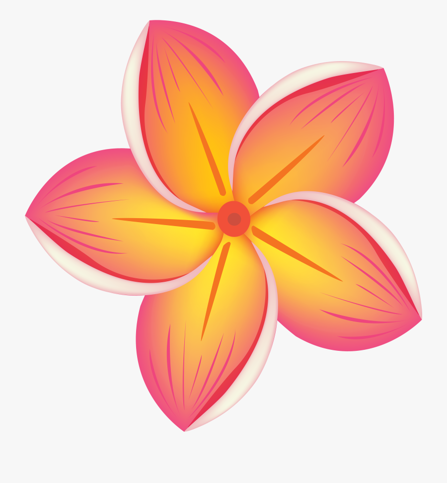 Tropical Flower Png Clipart - Tropical Flower Clipart, Transparent Clipart