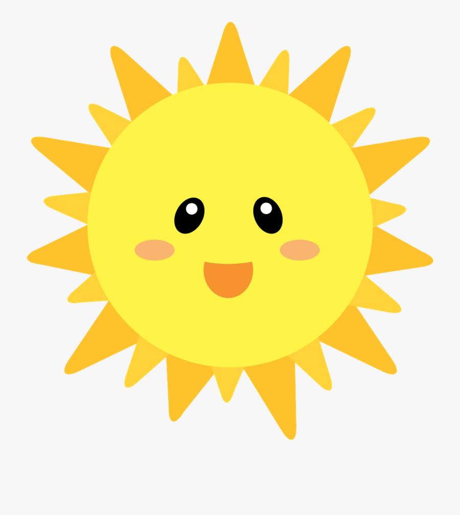 Sun Illustration, Beach Clipart, Background Clipart, - Transparent Background Cute Sun Clipart, Transparent Clipart