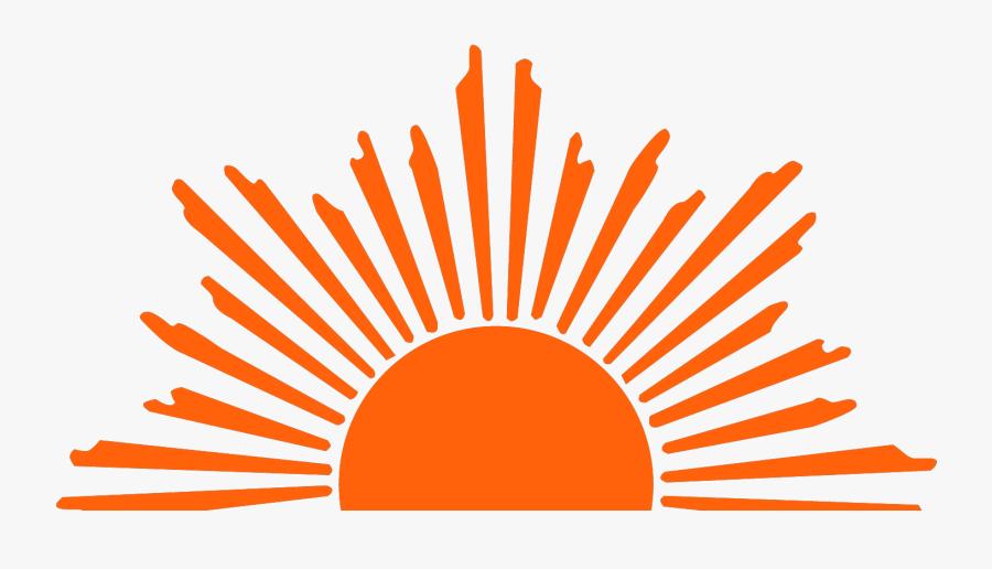Rising Sun Clip Art - Half Sun Clipart Black And White, Transparent Clipart
