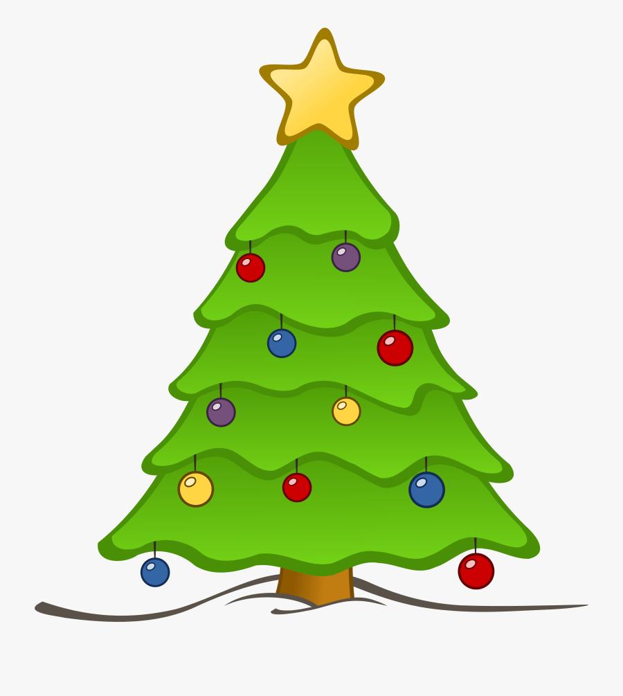 Free Christmas Tree Clip Art Borders Free - Christmas Tree Clipart, Transparent Clipart