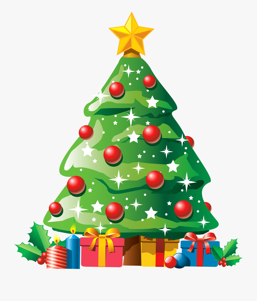 Christmas Tree Cartoon Transparent, Transparent Clipart