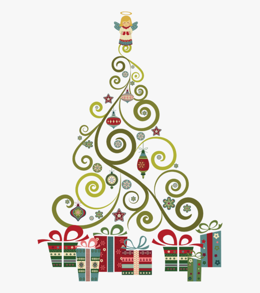 Clipart Abstract Christmas Tree, Transparent Clipart