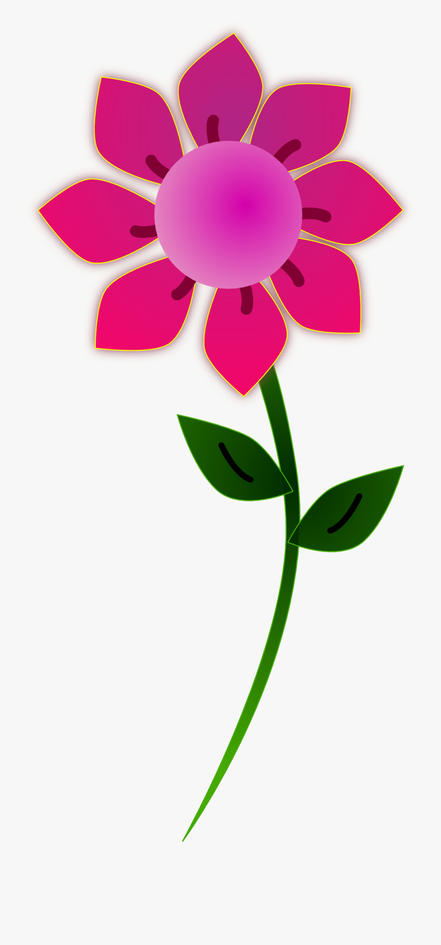 Free Flower Clip Art Graphics Of Flowers For Layouts - Single Flower Clip Art, Transparent Clipart
