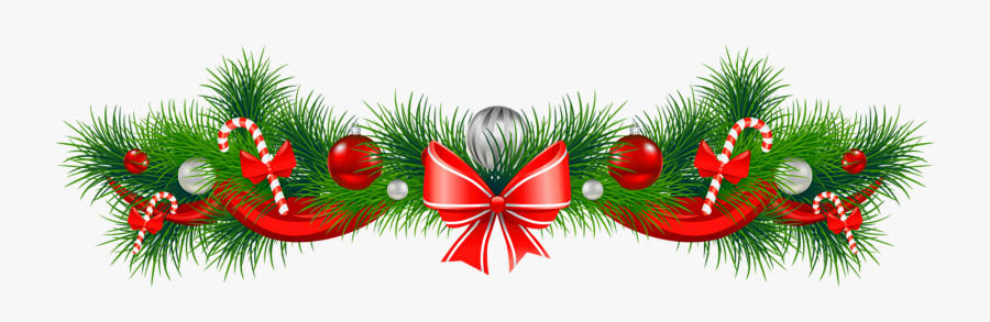 Free Christmas Garland Clipart The Cliparts - Christmas Decoration Png, Transparent Clipart